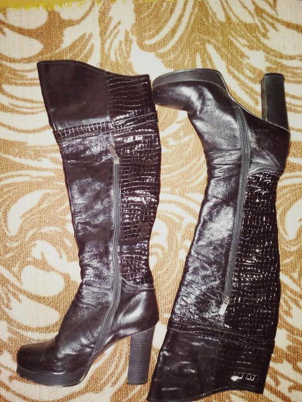 Кожаные осенние сапоги ботфорты за 530 грн.  fc3956d75446a