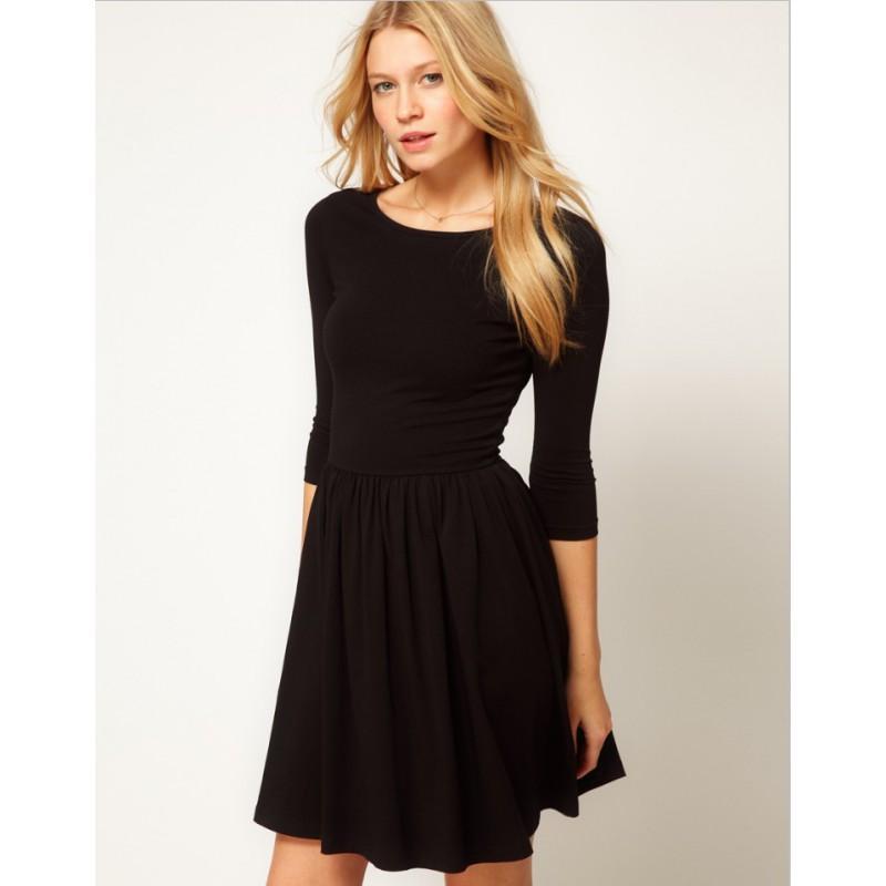7003b422790 Черное платье с юбкой солнце!1 фото ...