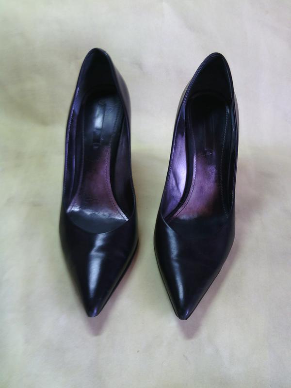 Туфли женские натуральная кожа р s, 10 (40-41) на шпильке черные ... 65453edddce