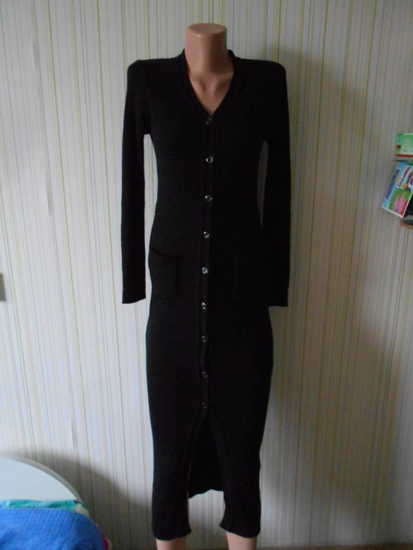 91c098b9902715f #базовое платье в рубчик теплое шерсть 50% #kookai#италия # кардиган# ...