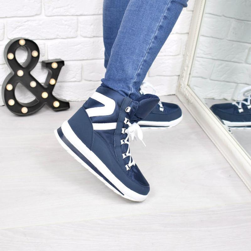 2c254c1b1 Сапоги дутики женские sport короткие синие 3861, цена - 410 грн ...