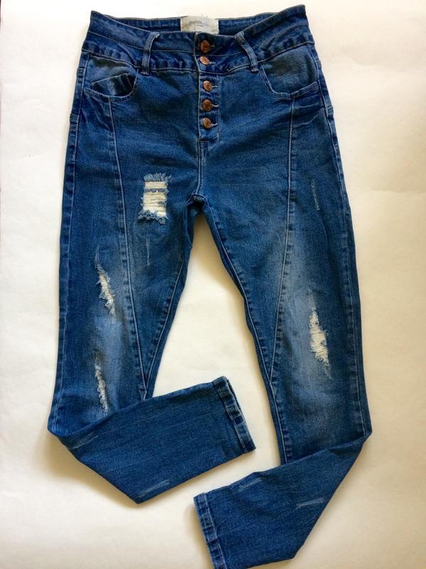 04ddef0cdaa Узкие обтягивающие джинсы скинни skinny vero moda с потертостями размер 27  длина 321 ...