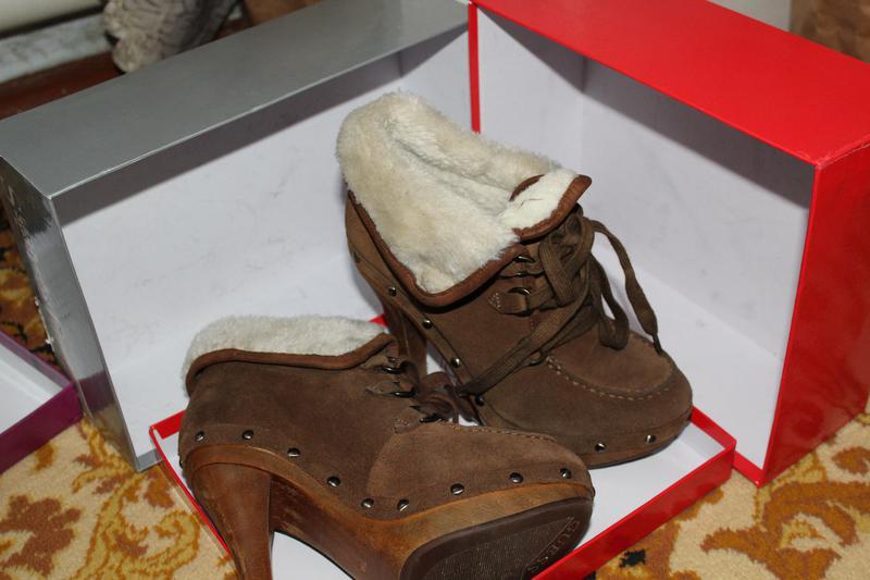 Шикарные зимние ботиночки на каблуке. фирма guess. Guess 0ce86ecba0a51