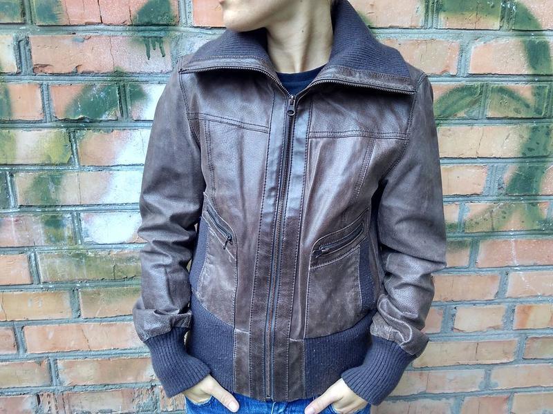 Кожаная куртка blend she   размер m Blend She 93cfc8e2c283e