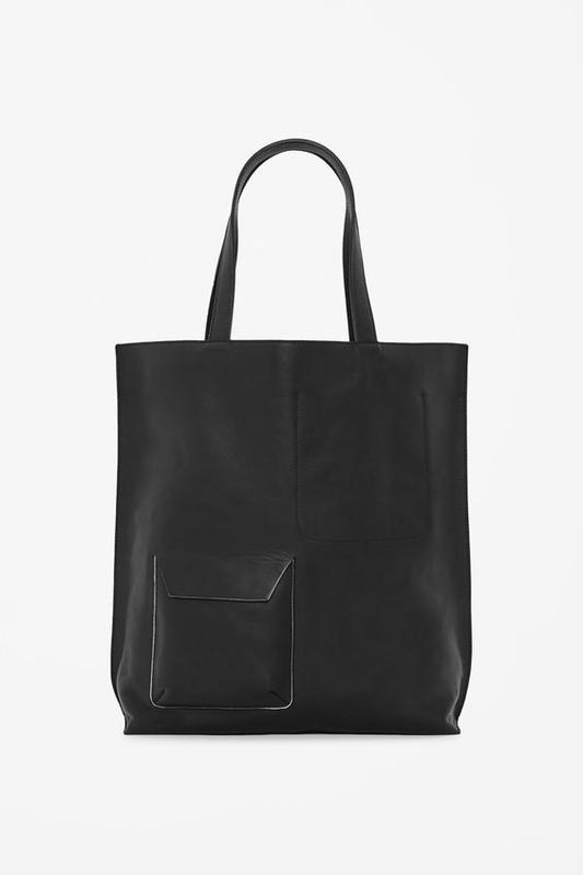 8cd4d1d2488c Большая черная кожаная сумка-шоппер cos COS, цена - 1200 грн ...