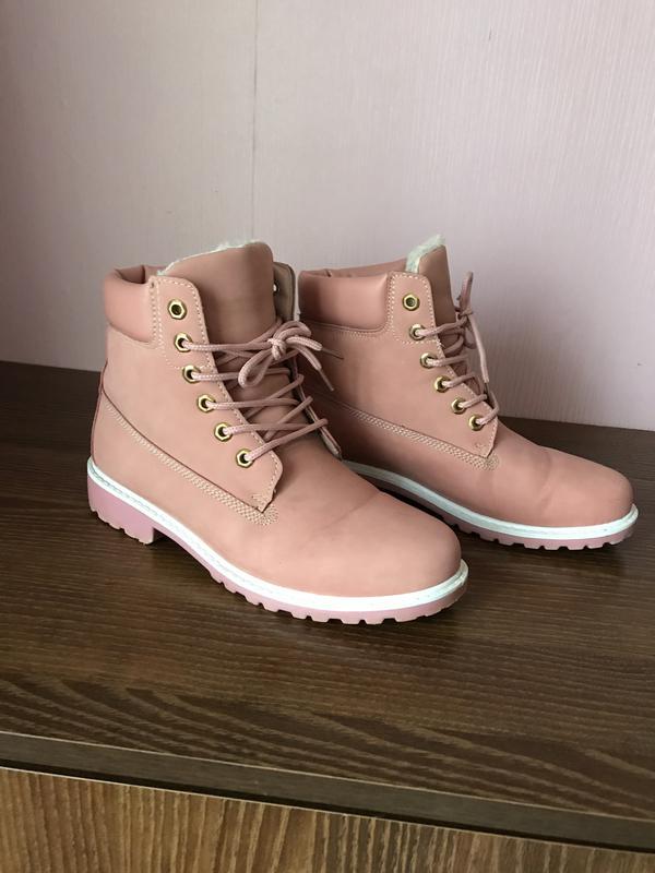 Пудровые зимние ботинки timberland 41.1 ... f46f847a227a6