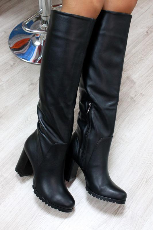 122b0acca18c Зимние натуральные кожаные сапоги на каблуке за 2200 грн.