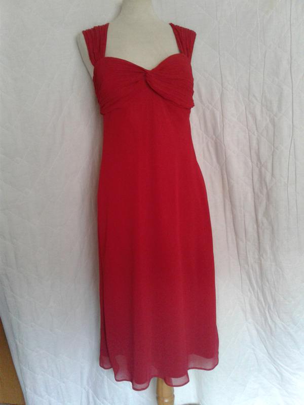 0e113788cdd Красное шифоновое платье