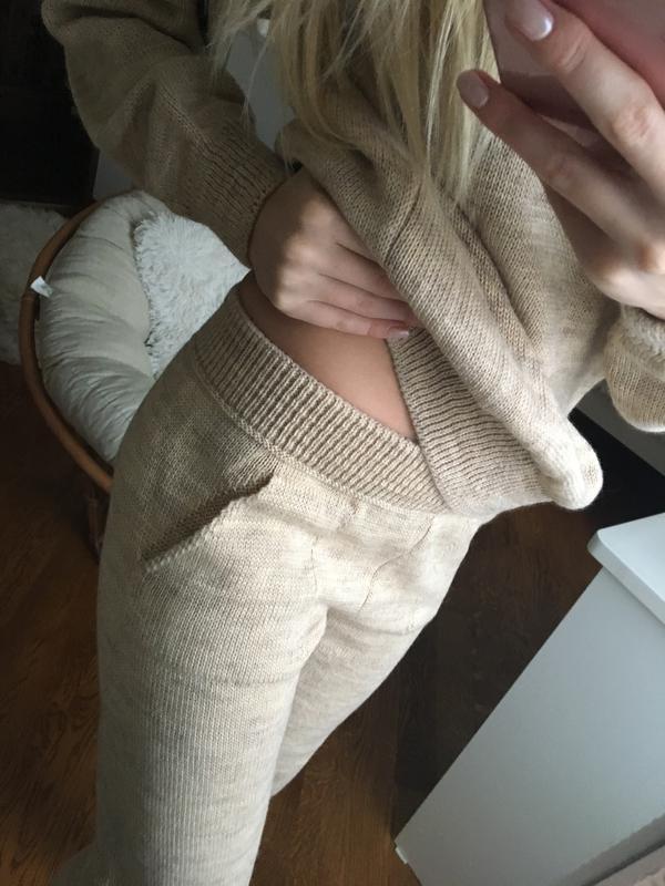роскошный вязаный спортивный костюм из шерсти Zara цена 900 грн
