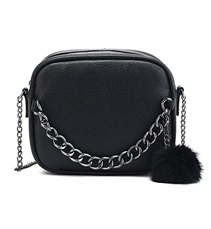 b4d7ac5b793b Крутая стильная черная сумка кроссбоди / клатч на длинном ремешке цепочке1  фото ...