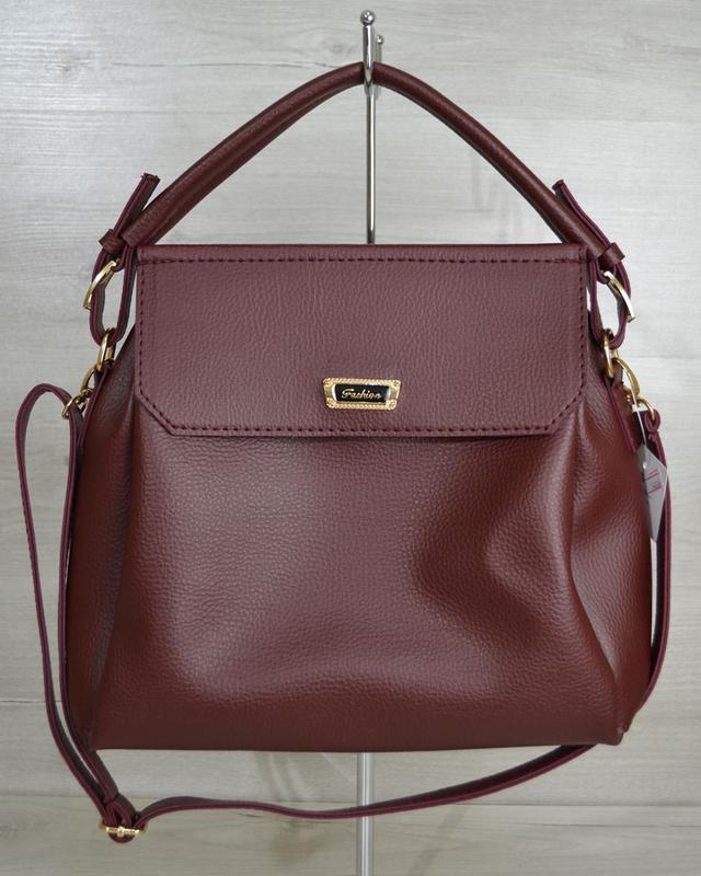 29ba2ccf1d91 +3 · Бордовая сумка через плечо вместительная матовая молодежная три  отделения6 фото · Бордовая ...