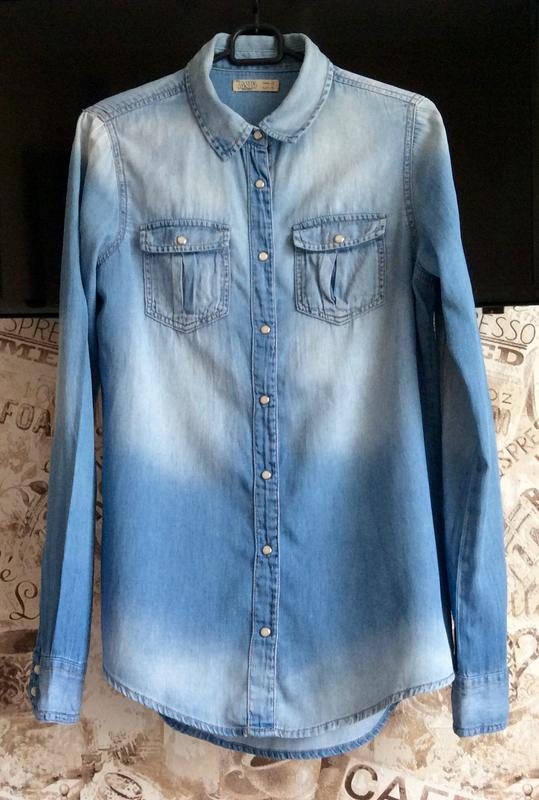 95c755e51297085 Джинсовая рубашка pull&bear Pull&Bear, цена - 215 грн, #1124000 ...