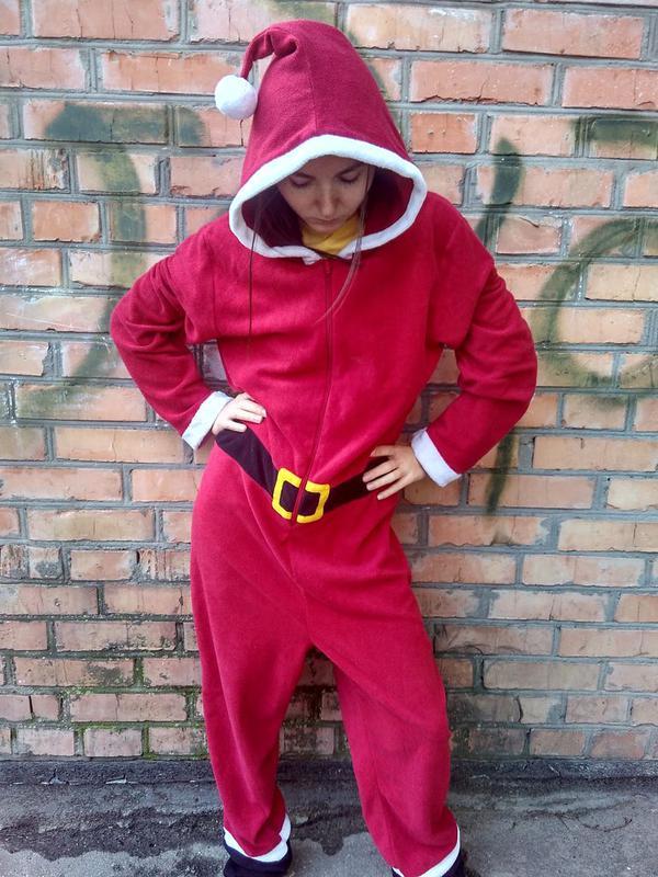 Пижама кигуруми новогодний костюм санты   размер m - l1 09e970b78c092