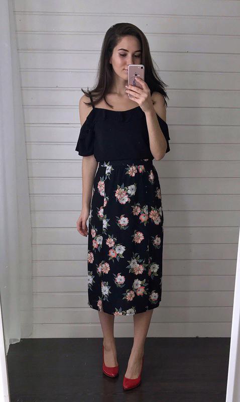 857dcb5f907 Красивая юбка миди в цветы atmosphere Atmosphere