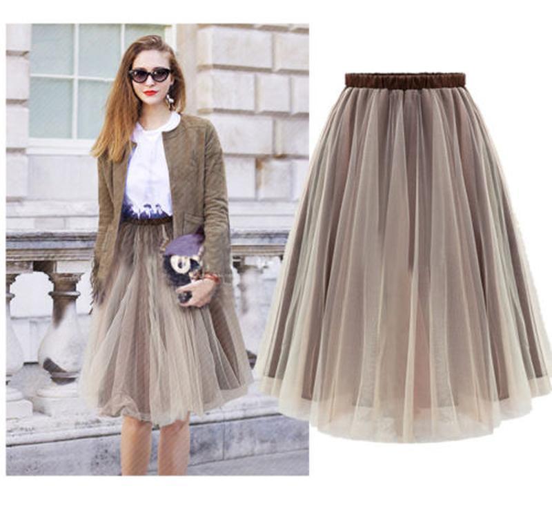 Купить красивую белую юбку