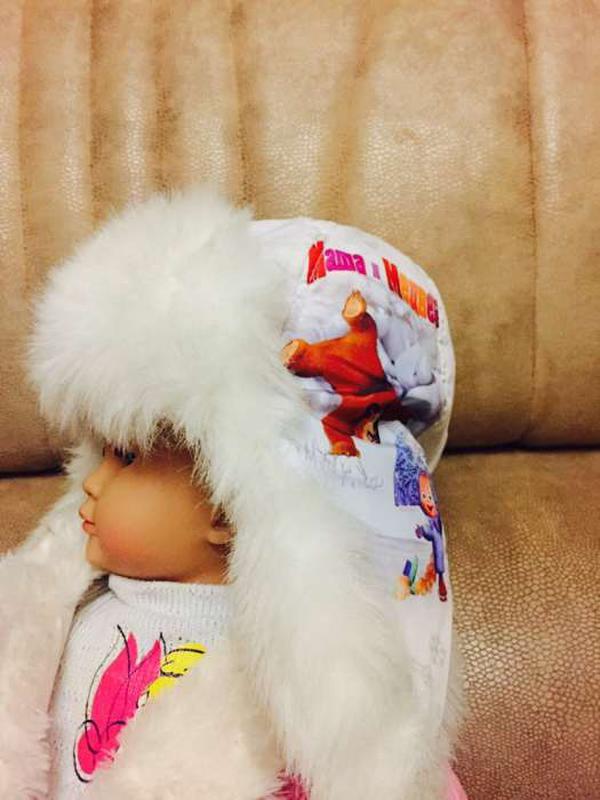 Теплая шапка-ушанка маша и медведь1 ... bd29800e85bf9