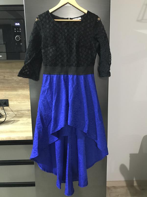 ba8c8a37fa7 Кружевное платье с ассиметричным низом1 ...