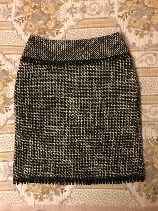 Теплая классическая юбка карандаш твид 70% шерсть с составе, цена ... 8f40fa4f741