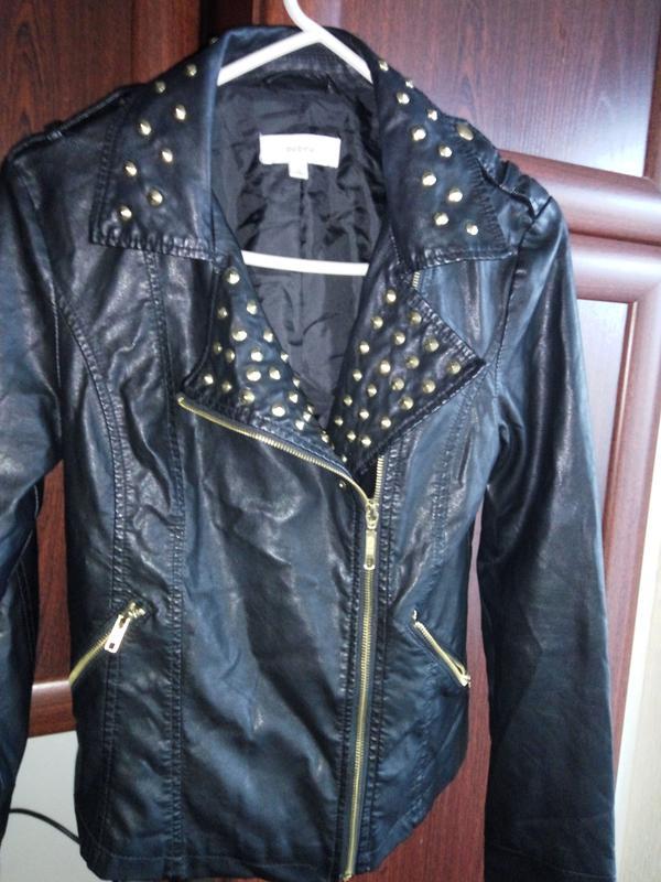 Байкерская куртка-косуха под кожу эко кожа с шипами заклёпками Zebra, цена - 399 грн, #9178786, купить по доступной цене   Украина - Шафа