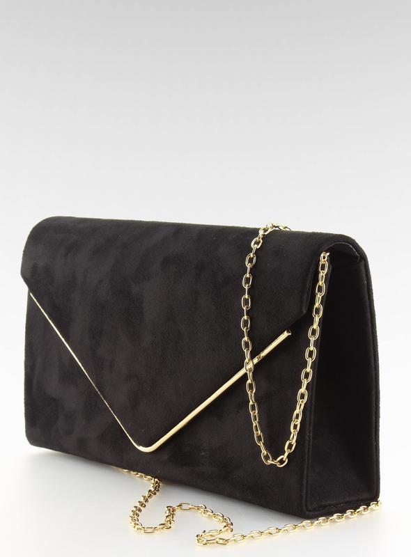 Вечерный черный замшевый клатч на цепочке, цена - 465 грн,  9202182 ... de3e3547a40