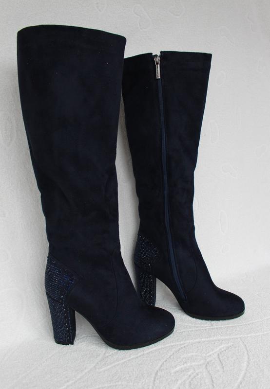943f09db Зимние сапоги, сапожки на удобном, устойчивом каблуке 40 размера1 фото ...