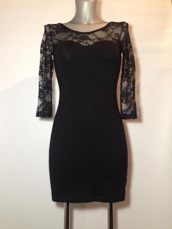 0dcfeb7c3bc8eb5 Маленькое черное платье кружевное хлопковое вечернее нарядное на новый год1  фото ...