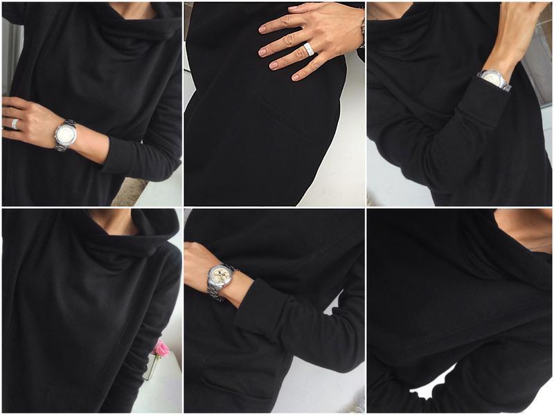 3c4f444d9fa ... Стильное черное спортивное платье - худи на флисе от colors of the  world3 фото ...