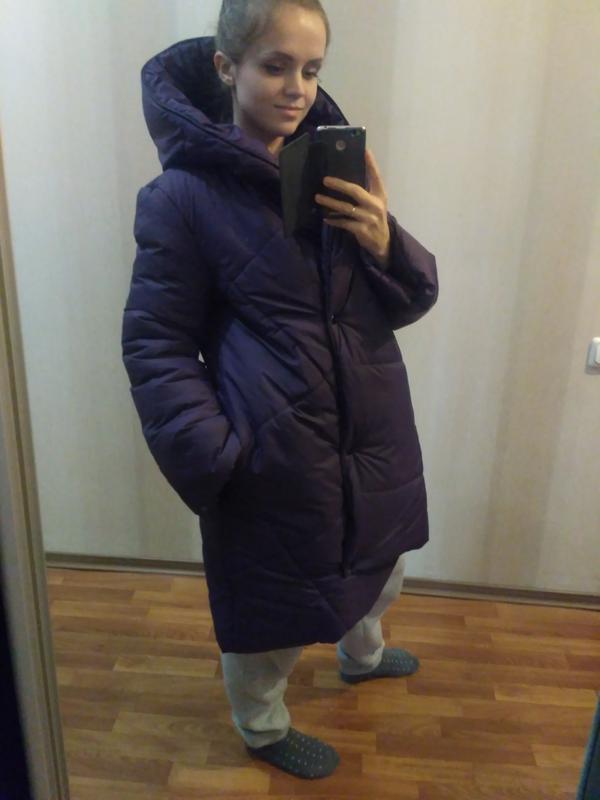 117845dda5b1ab0 Пуховик-одеяло зимняя куртка зефирка оверсайз для беременных1 фото ...