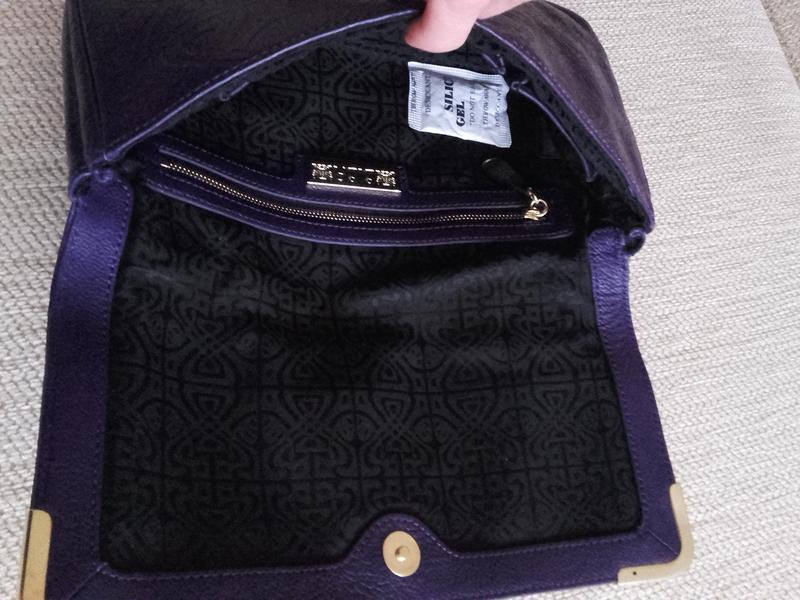 f7c51487c611 Кожаный брендовый фиолетовый клатч от biba!, цена - 375 грн ...