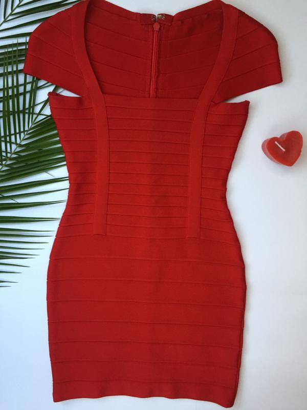 e3c1d7128df Шикарное красное бандажное платье в стиле herve leger xs-s Herve ...
