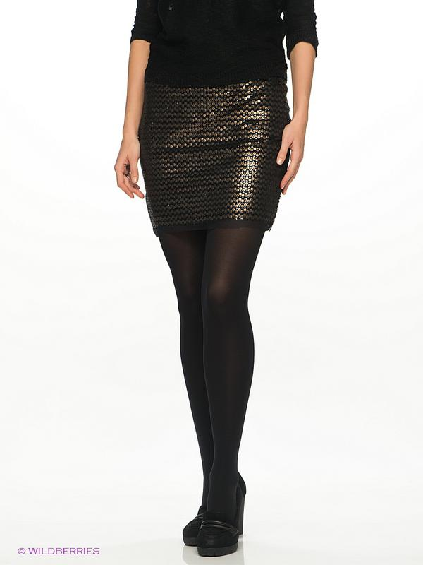 Фото чорна блискуча юбка
