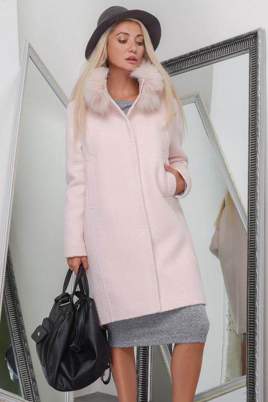 a99e46bd8871 Зимнее пальто кокон пудра, цена - 2250 грн,  9402237, купить по ...