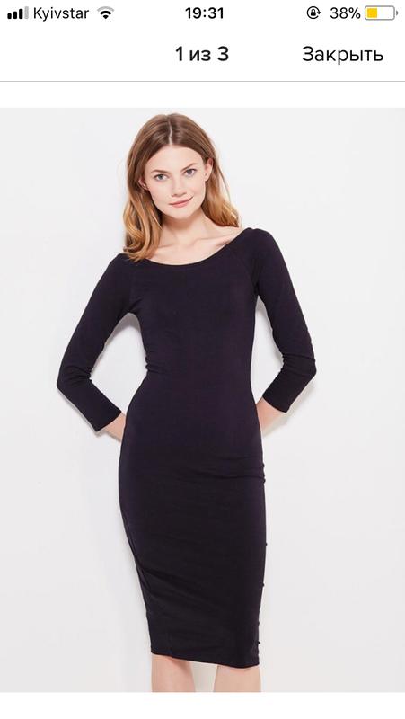 9442f0c6598 Новое базовое черное платье Oodji