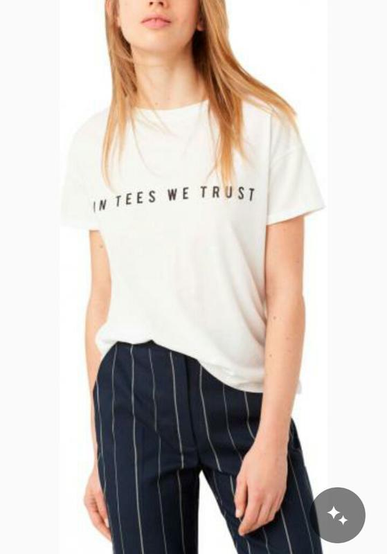 Белая футболка с надписью mango Mango 79266dce34b7a