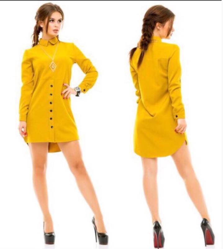 f6c27eb3731 Платье-рубашка. супер! горчично-желтый цвет. р. 44-46. актуальный в ...