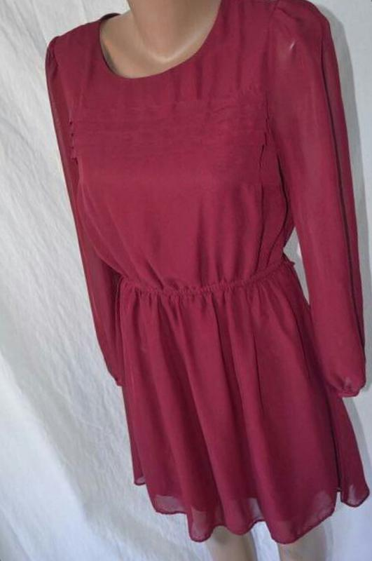edfce19c3a0 ... Шифоновое бордовое платье.2 фото ...
