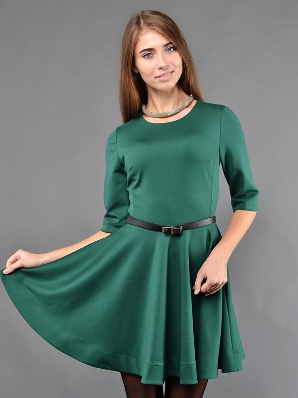 1b452dfa7a8 Новое стильное зелёное трикотажное платье осень зима 2016 недорого1 фото ...