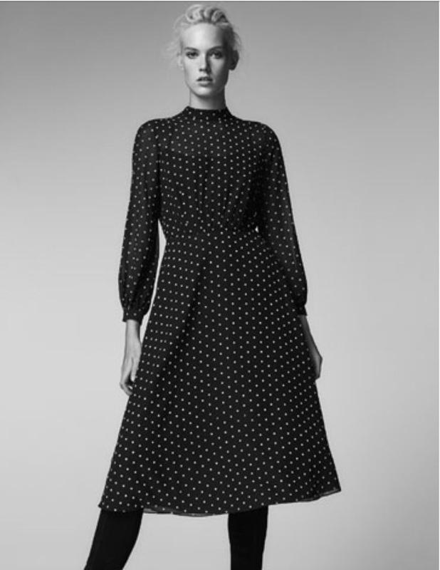 82b17fdd11e Платье чёрное в горох massimo dutti Massimo Dutti