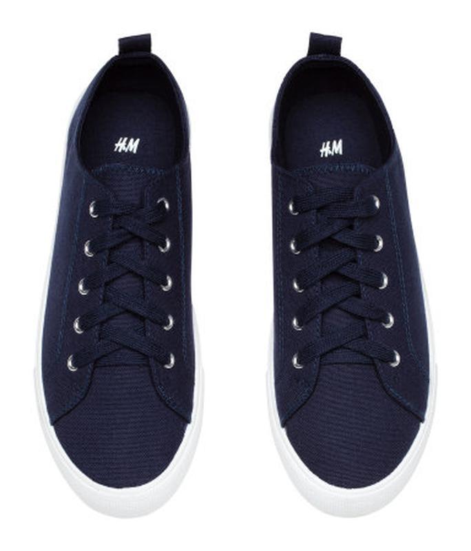 d74b18ac8457 Сникерсы кеды h m синие H M, цена - 500 грн,  9532709, купить по ...