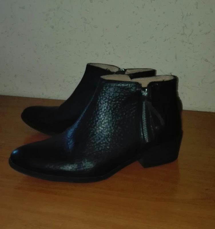 Класні шкіряні демі черевички бренду zara 25f664c8df9e5