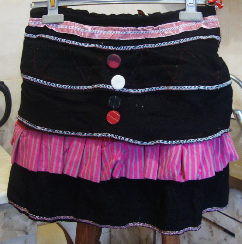 2169a76a8fa4 Юбка черно-розовая италия save the gueen размер s m 60%шерсть, 40 ...