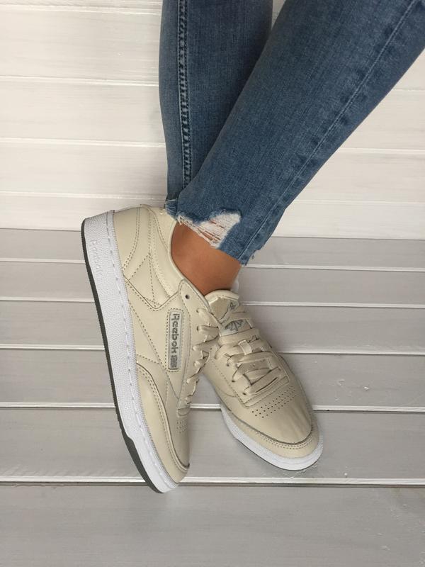 4eba38b9c (размеры 37,5 и 39) бежевые женские кроссовки reebok, оригинал, натуральная  ...