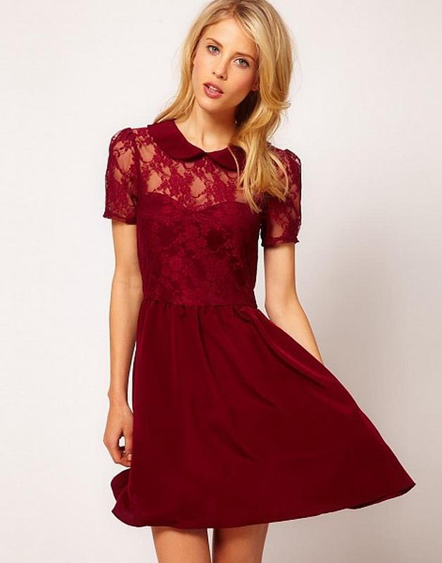Вишневый цвет платья фото