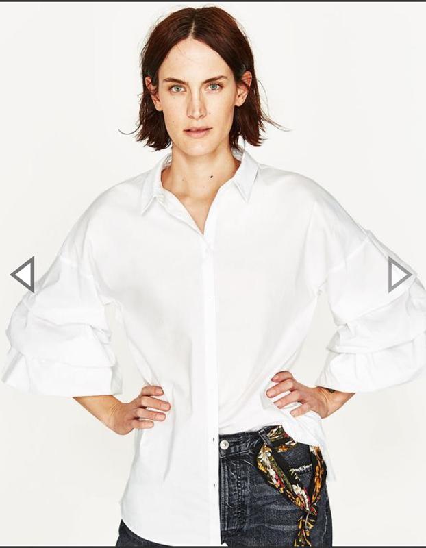 092d372df51 Белая блузка рубашка zara с пышными рукавами
