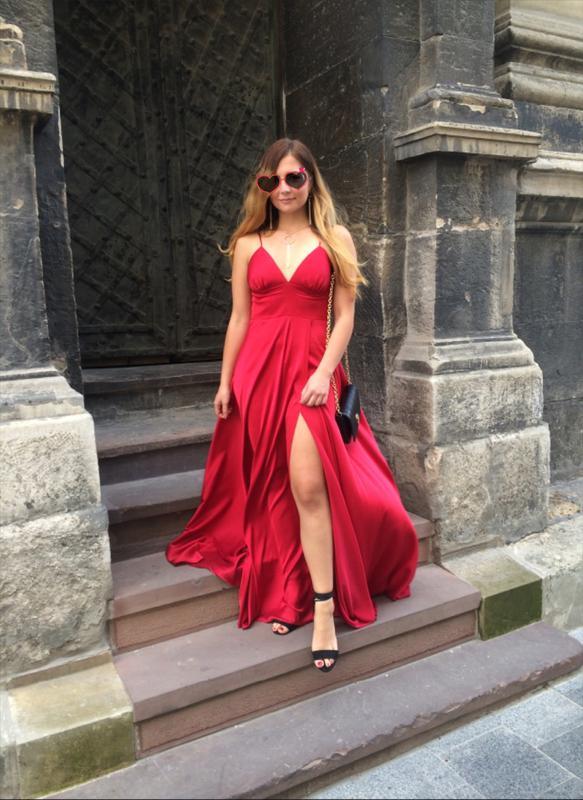 Плаття червоне шовкове вечірнє довге сукня шовкава вечірня платье шёлк  вечернее1 ... 09e285f640bae
