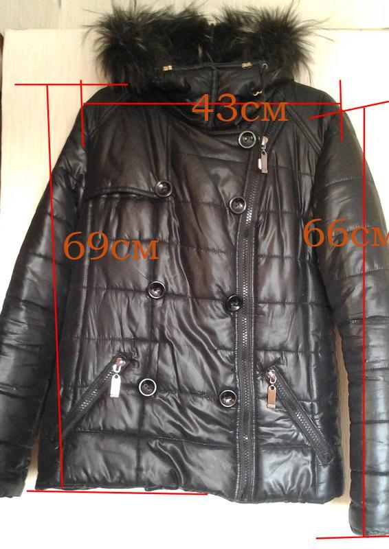 2ecab31c8ae408 ... Цена снижена! стильная куртка пальто пуховик зима косуха + подарок  жилет !3 фото ...