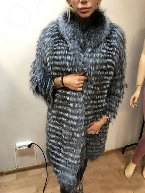 b3ffa7967cb Роскошная шуба пальто из меха чернобурки в роспуск 100 см1 фото ...