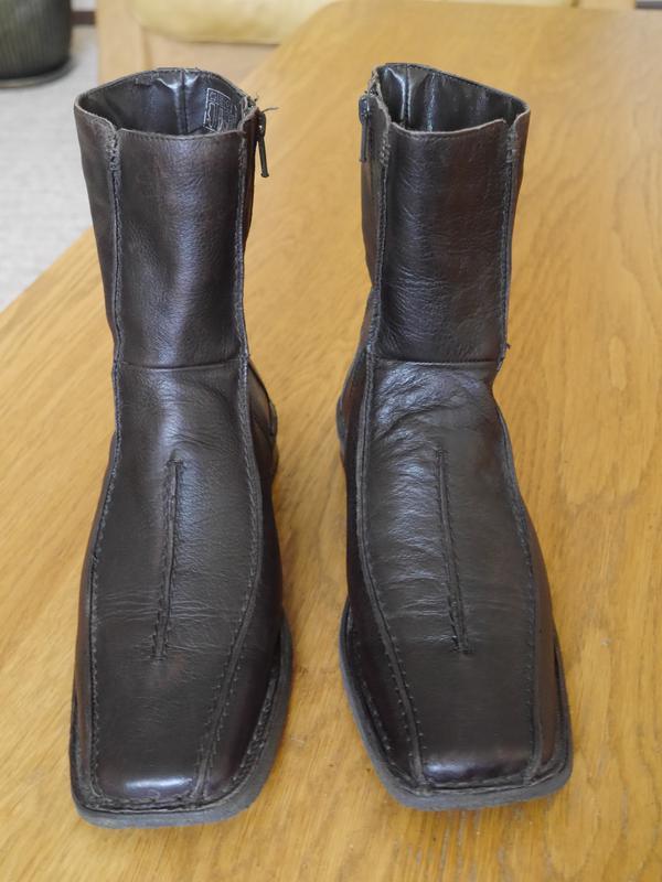a20225cf0ac3 Чоботи короткі шкіряні розмір 39 стелька 26,1 см janet d Janet D ...