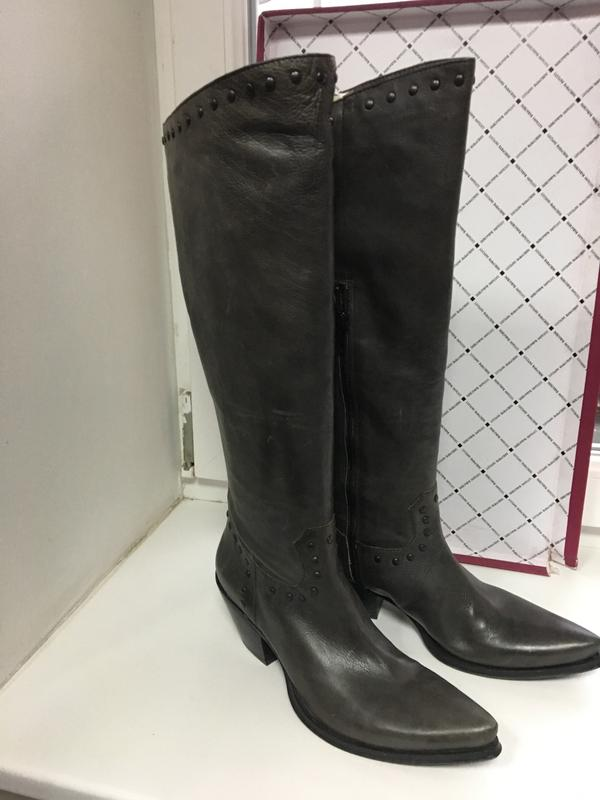 3a5f03739 Сапоги женские кожаные демисезонные цвет графит, премиум класс италия vero  couoio1 фото ...