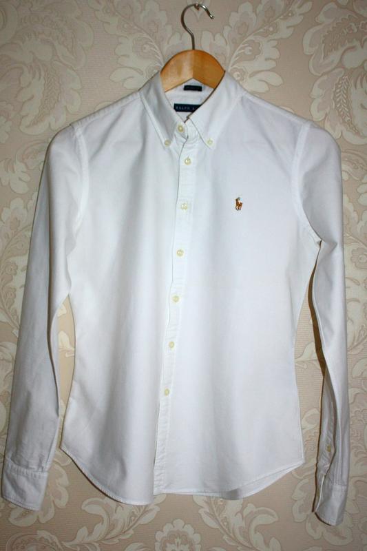 96dae896ed81d3d Белая рубашка polo ralph lauren оригинал, цена - 400 грн, #744754 ...